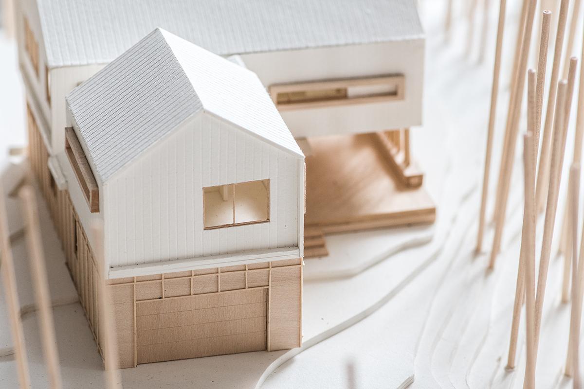 Modern Cabin architectural model designed by Dallas Architect Bob Borson