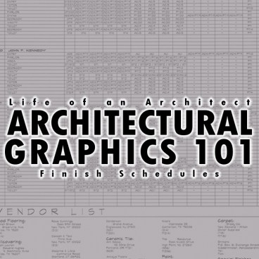 Architectural Graphics 101 Finish Schedules