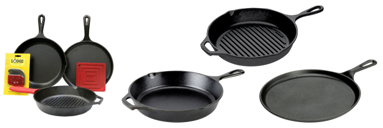 6 Piece Cast Iron Skillet Set - What to get an Architect for Christmas 2017