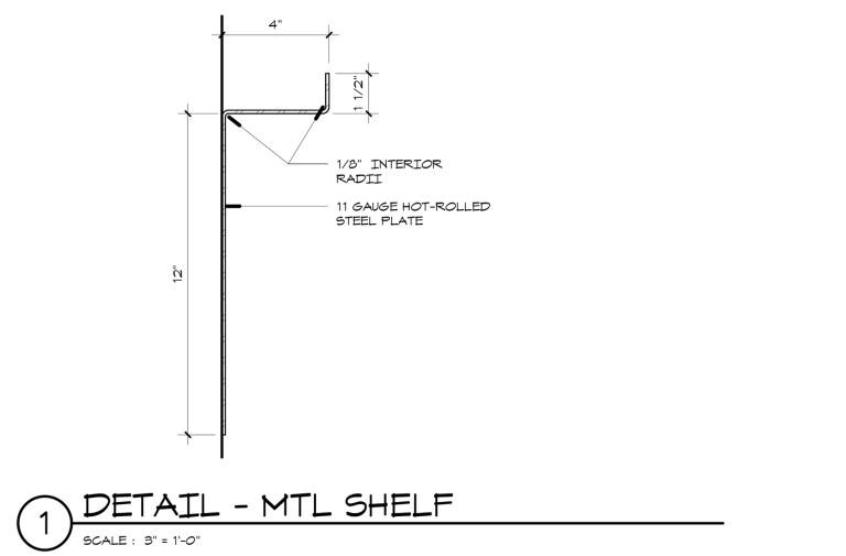 Metal Shelf Detail Profile