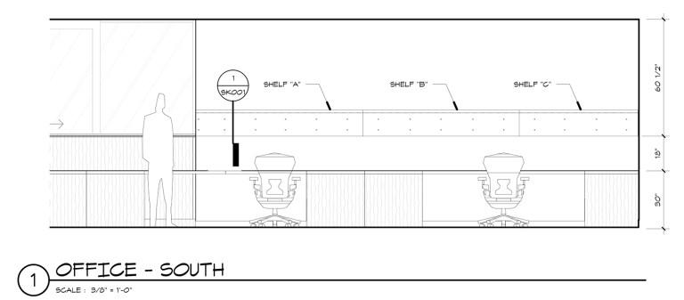 Metal Shelf Elevation Drawing 01