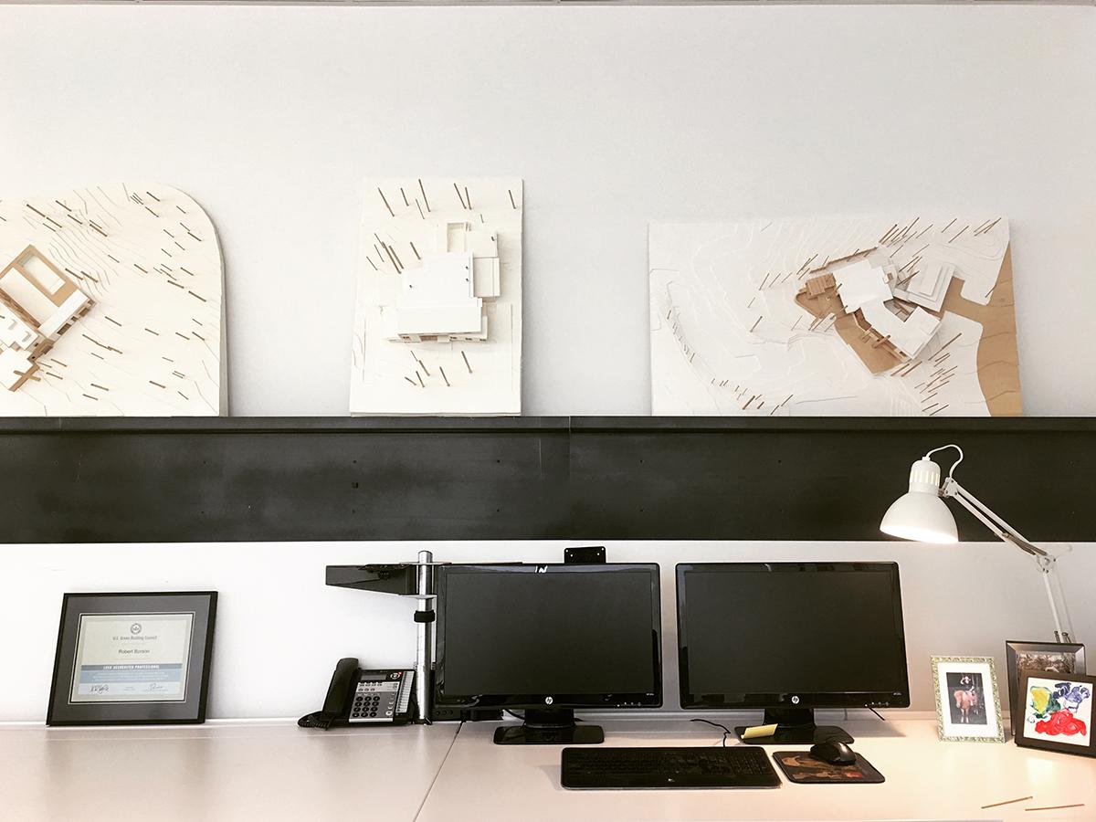 Metal Wall Shelf at Bob Borson's Desk