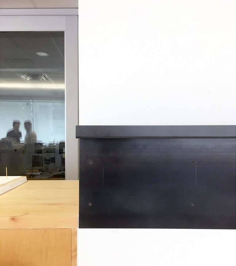 Metal Shelf - installation of the first piece