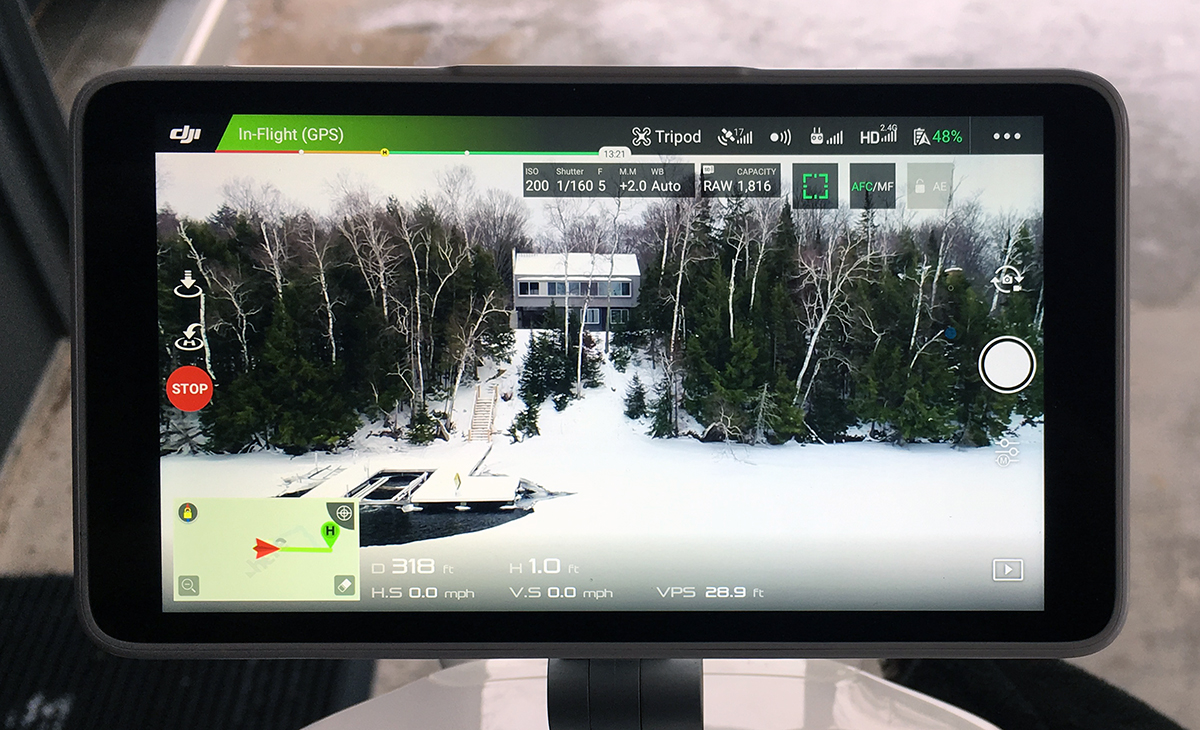 Control Panel of the DJI Phantom Pro 4 - Photographer Poul Ober