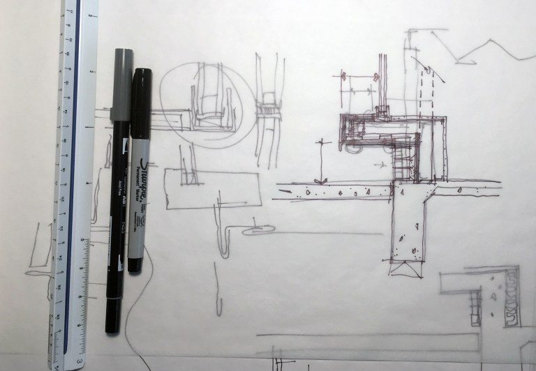 Architectural sketch without notes