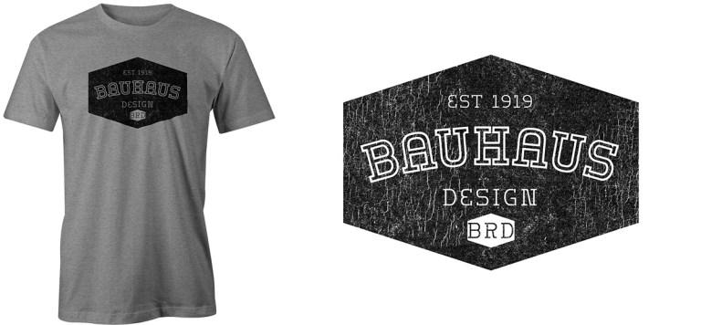 Bauhaus cracked ink by Bob Borson
