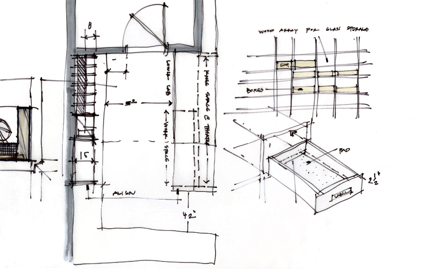 Sketch Study 002 oculus theater detail