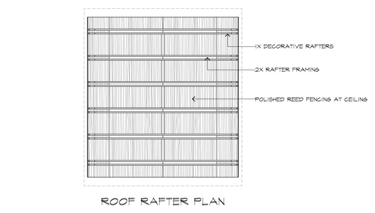 Japanese Playhouse Construction Drawings Roof Rafter Plan