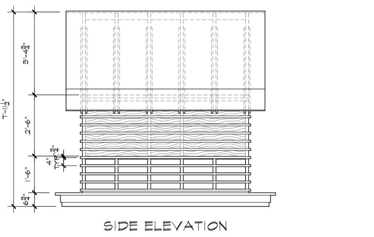 Japanese Playhouse Construction Drawings Side Elevation