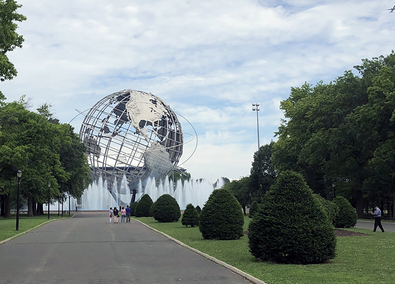 New York World's Fair Globe - photo by Bob Borson