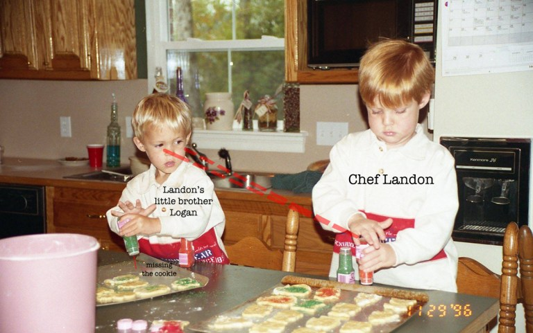 """Chef"" Landon Williams and Sous Chef Logan"
