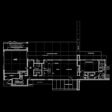Low-Cost Modern House floor plan - by Dallas Architect Bob Borson