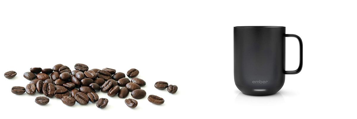 Ember ceramic mug - in black