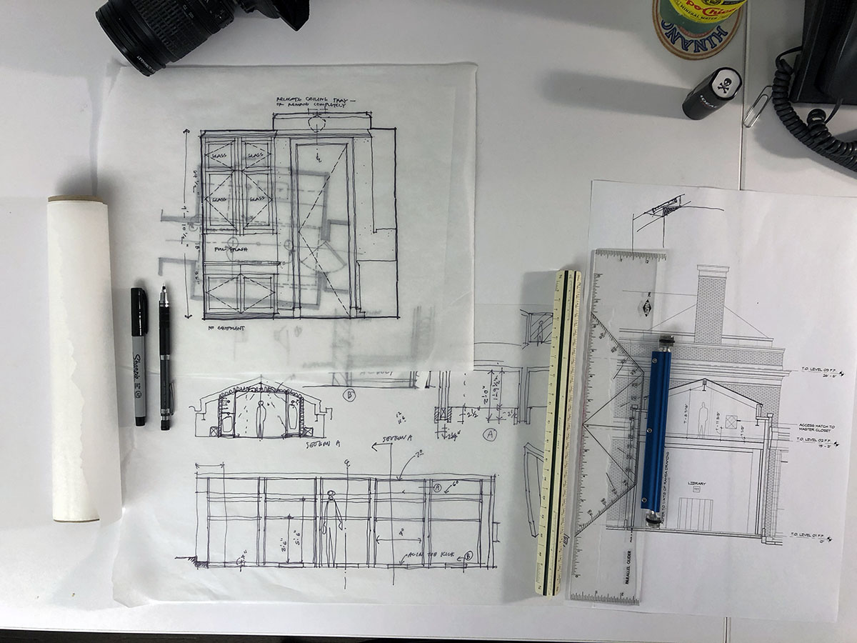 What's on an Architect's Desk - sketches 01