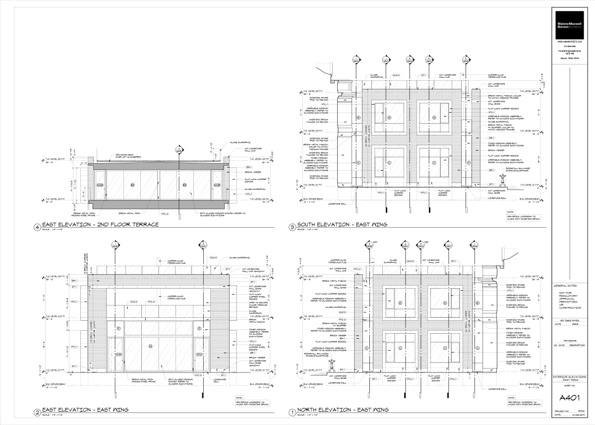 Estate Project - Exterior Elevation Drawing A401