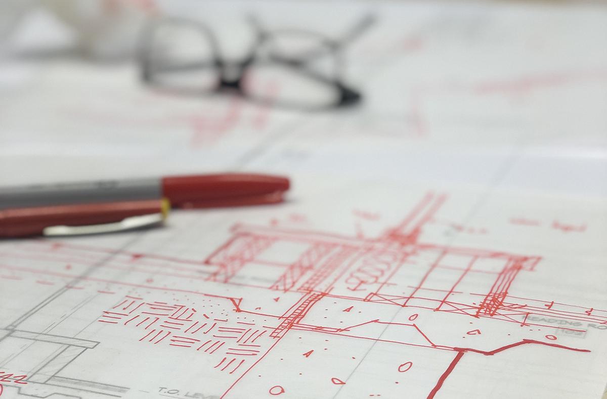 foundation detail redline design sketch by Bob Borson