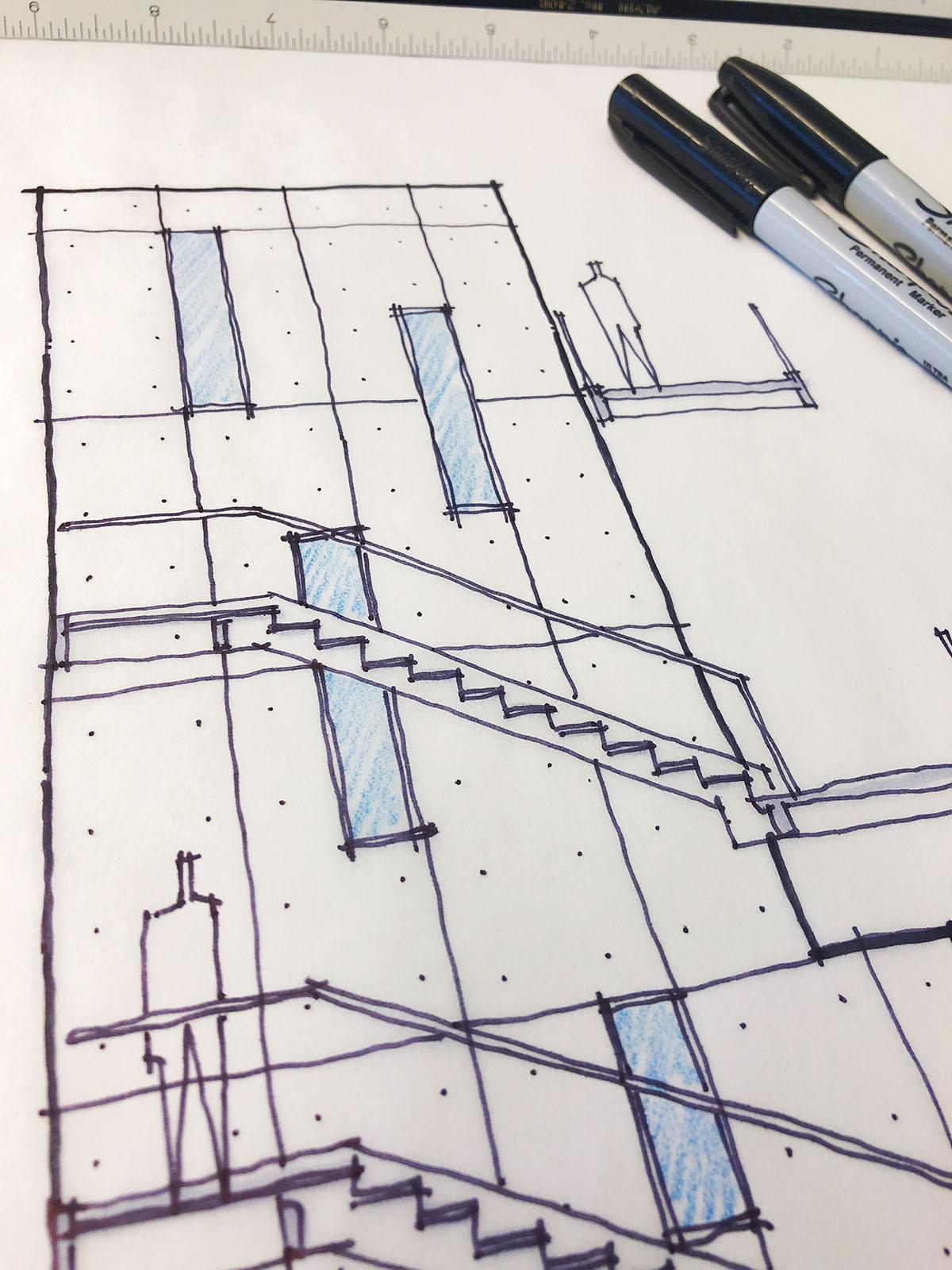 Concrete Wall concept sketch 01