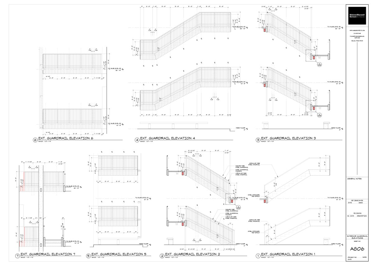 Oak Grove Handrail Sections by Bob Borson