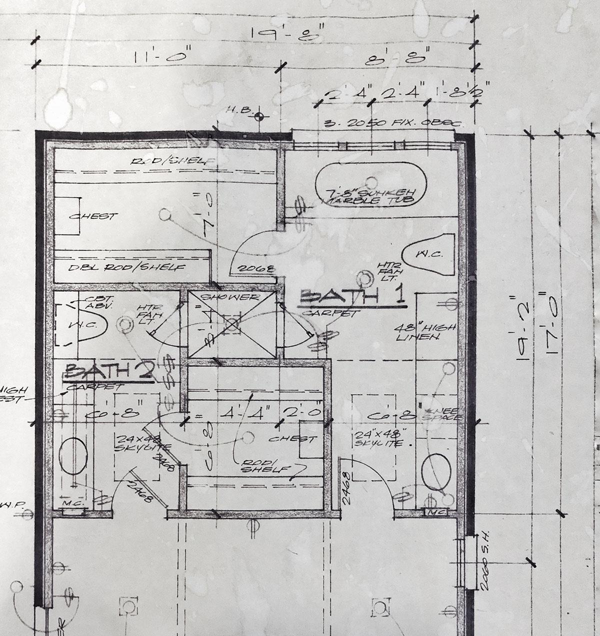 Master Bathroom Floor plan original