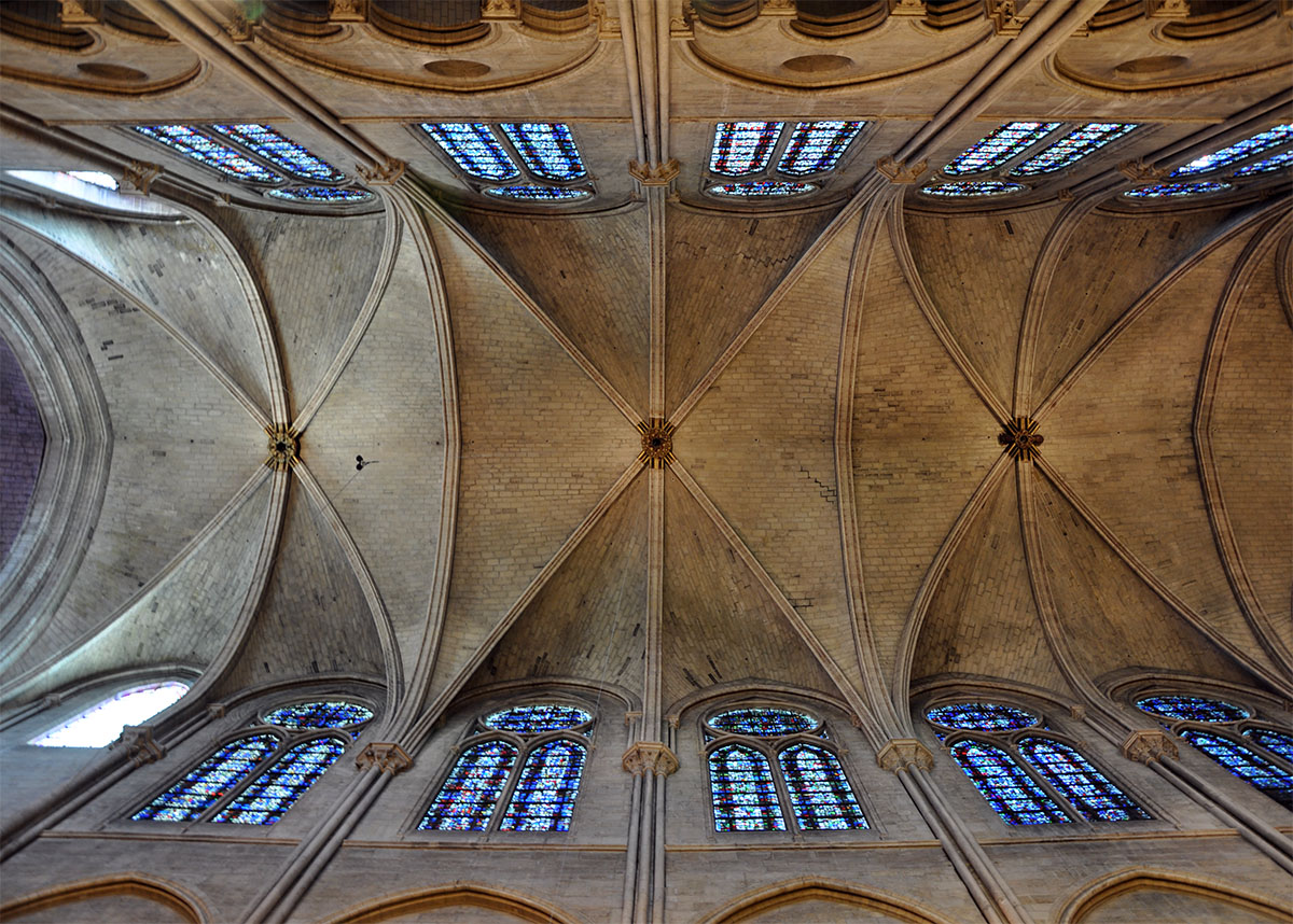 Notre Dame Cathedral ceiling June 2010 photo by Bob Borson
