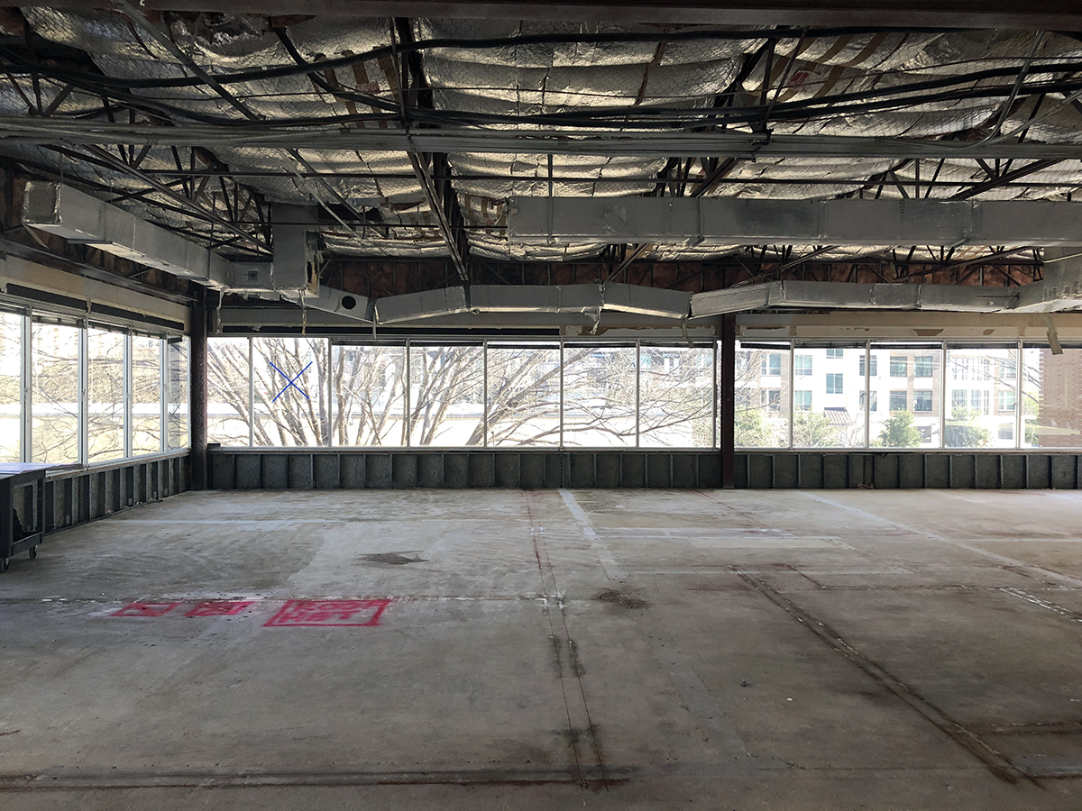An empty job site prior to the start of construction
