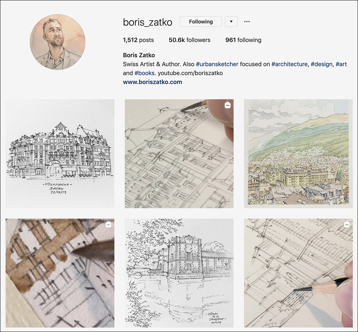 boris_zatko Instagram account - good for sketching