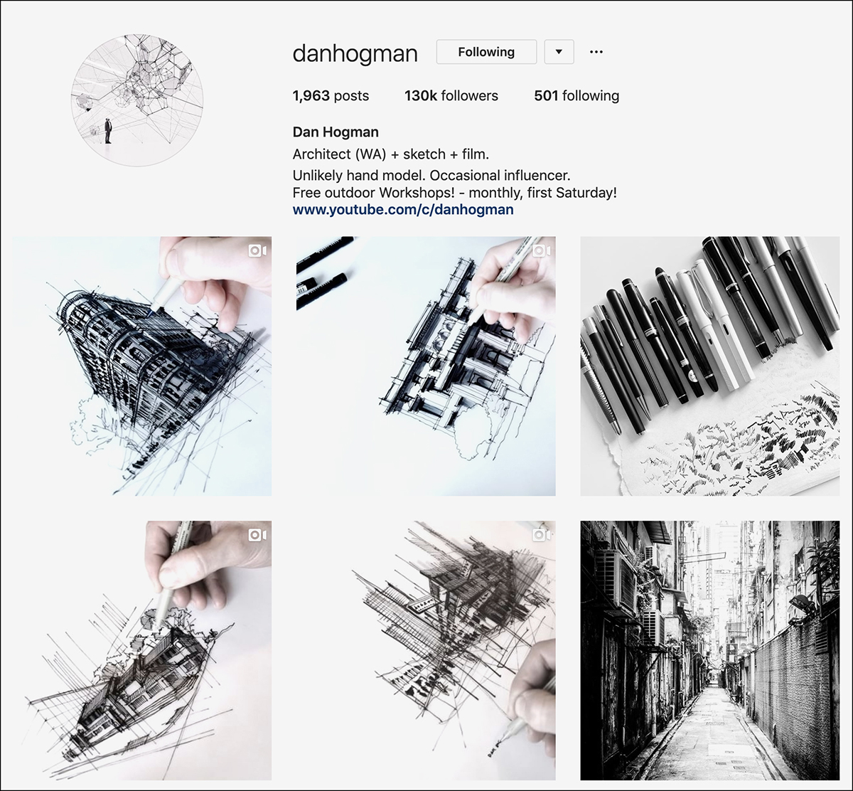 danhogman Instagram account - good for sketching