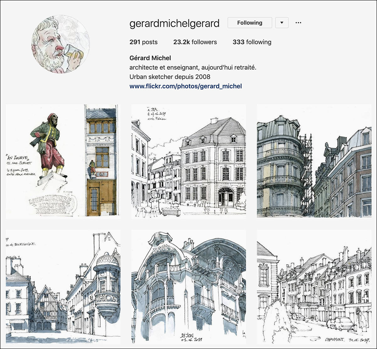 gerarmichelegerard Instagram account - good for sketching
