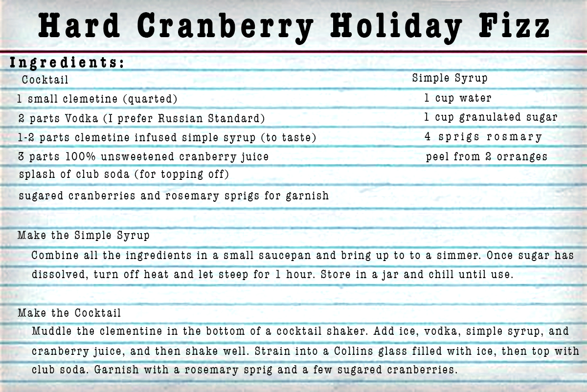 Hard Cranberry Holiday Fizz from Life of an Architect