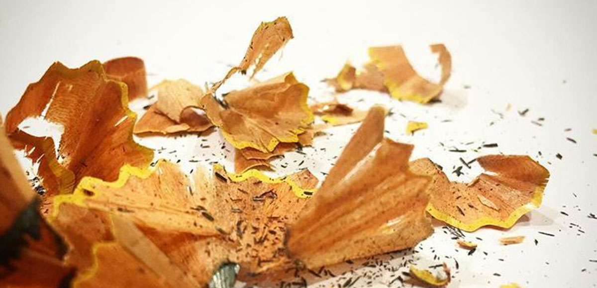 pencil shavings by Bob Borson