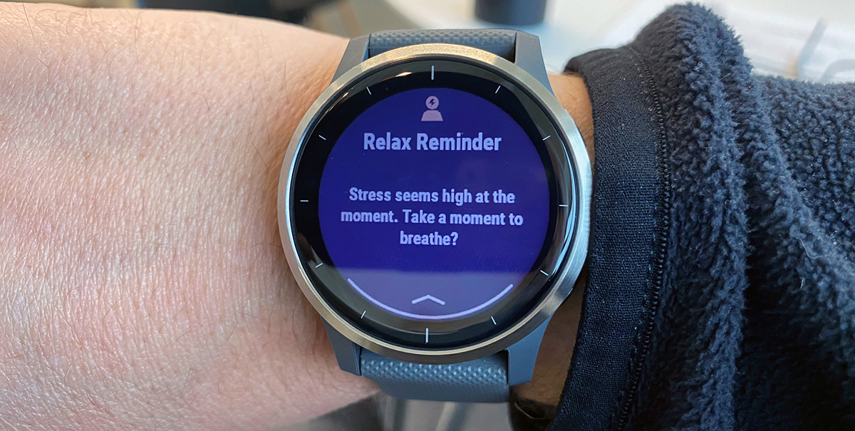 stress reminder on watch