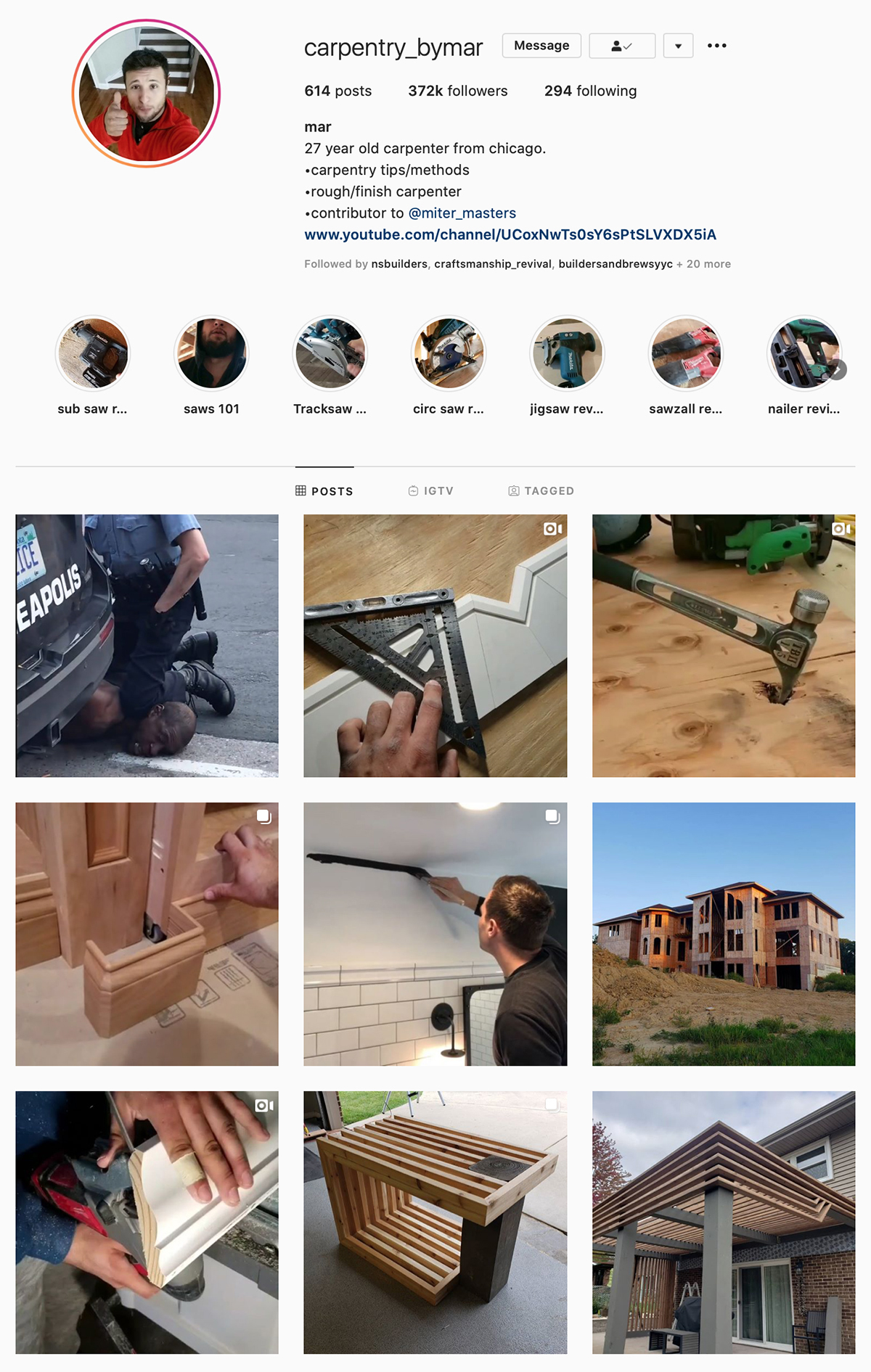 Best Construction Instagram Accounts Carpentry_bymar