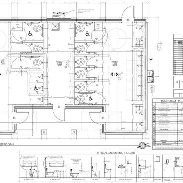 Athletic Park Restroom Floor Plan