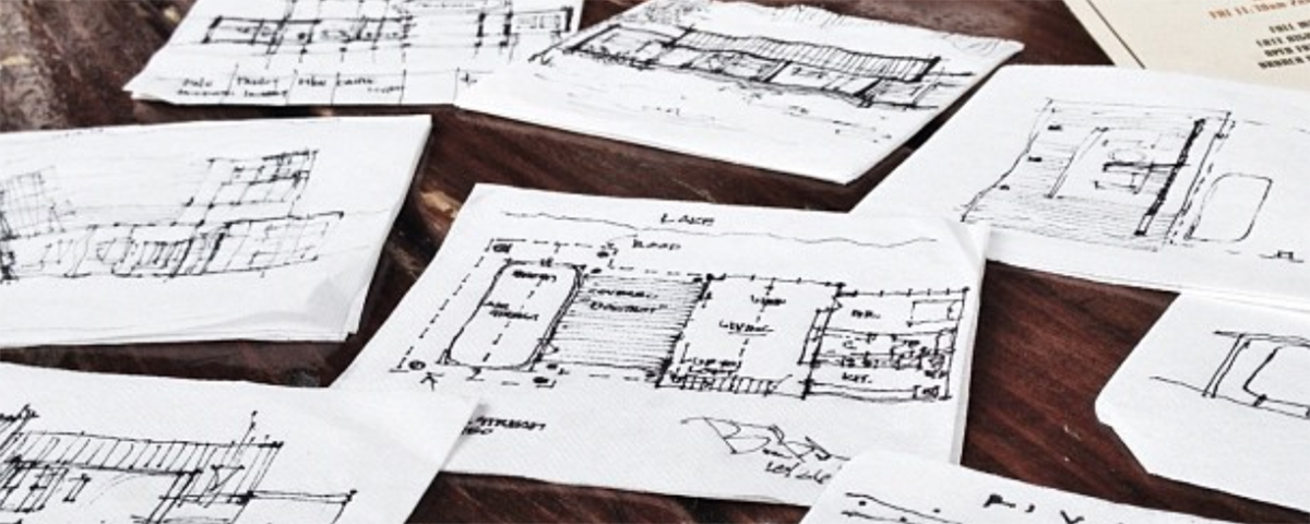 Creating a Culture of Design - napkin sketches