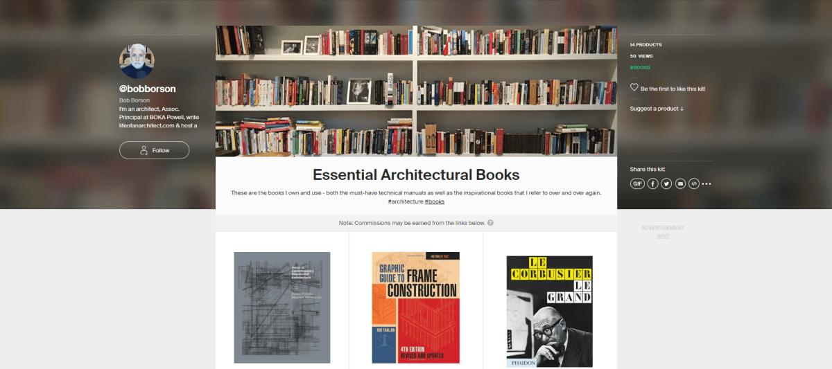 Essential architectural books