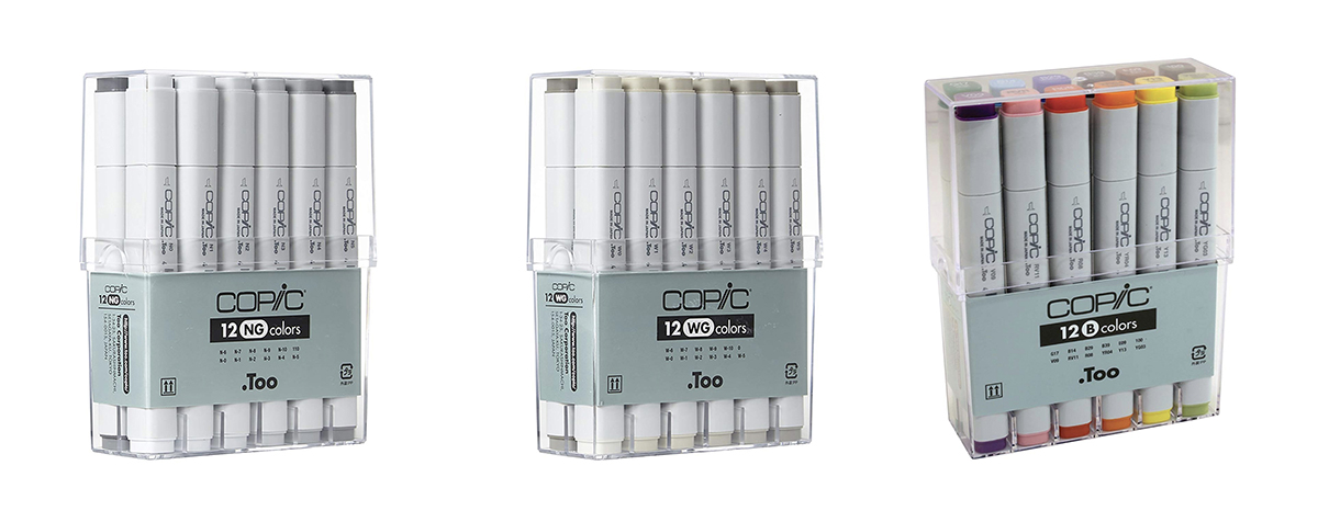 Copic markers 12 pack sets - Gifts for Architects