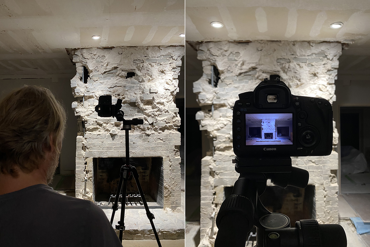 Documenting the Demolished Fireplace