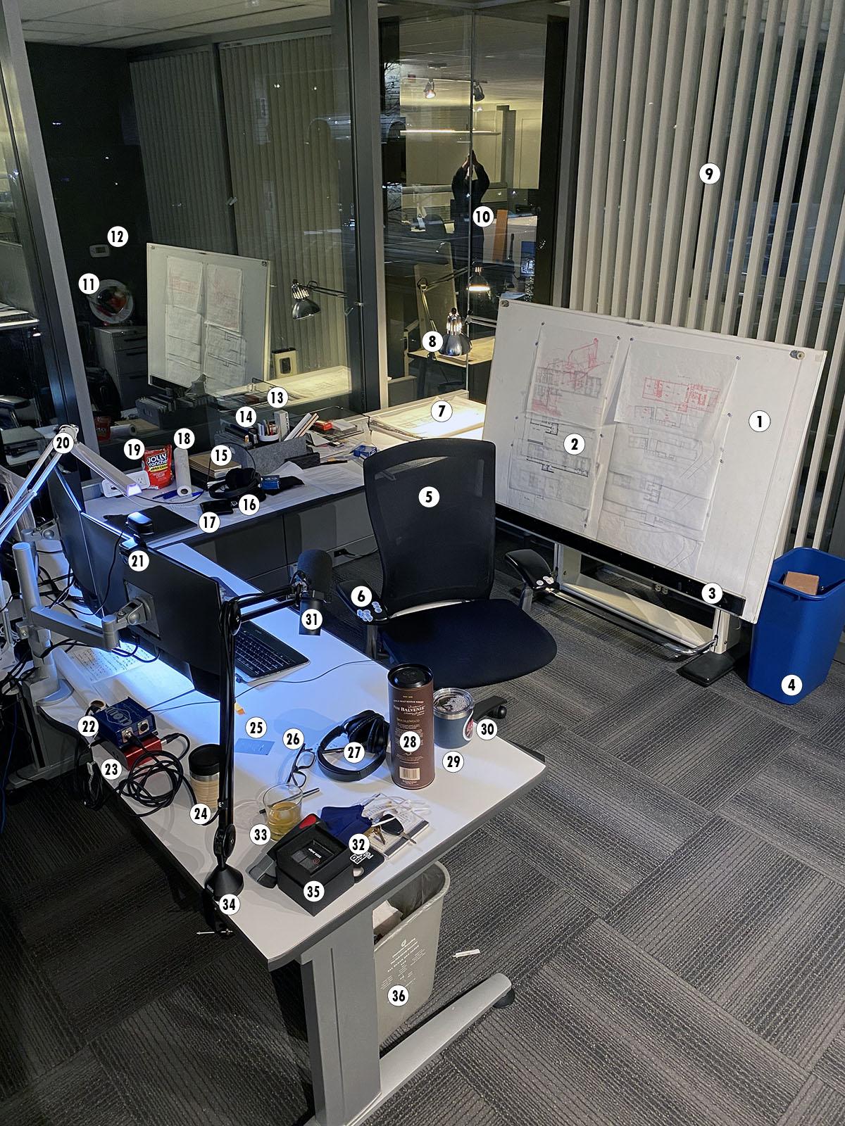 Dallas Architect Bob Borson - What's on my Desk
