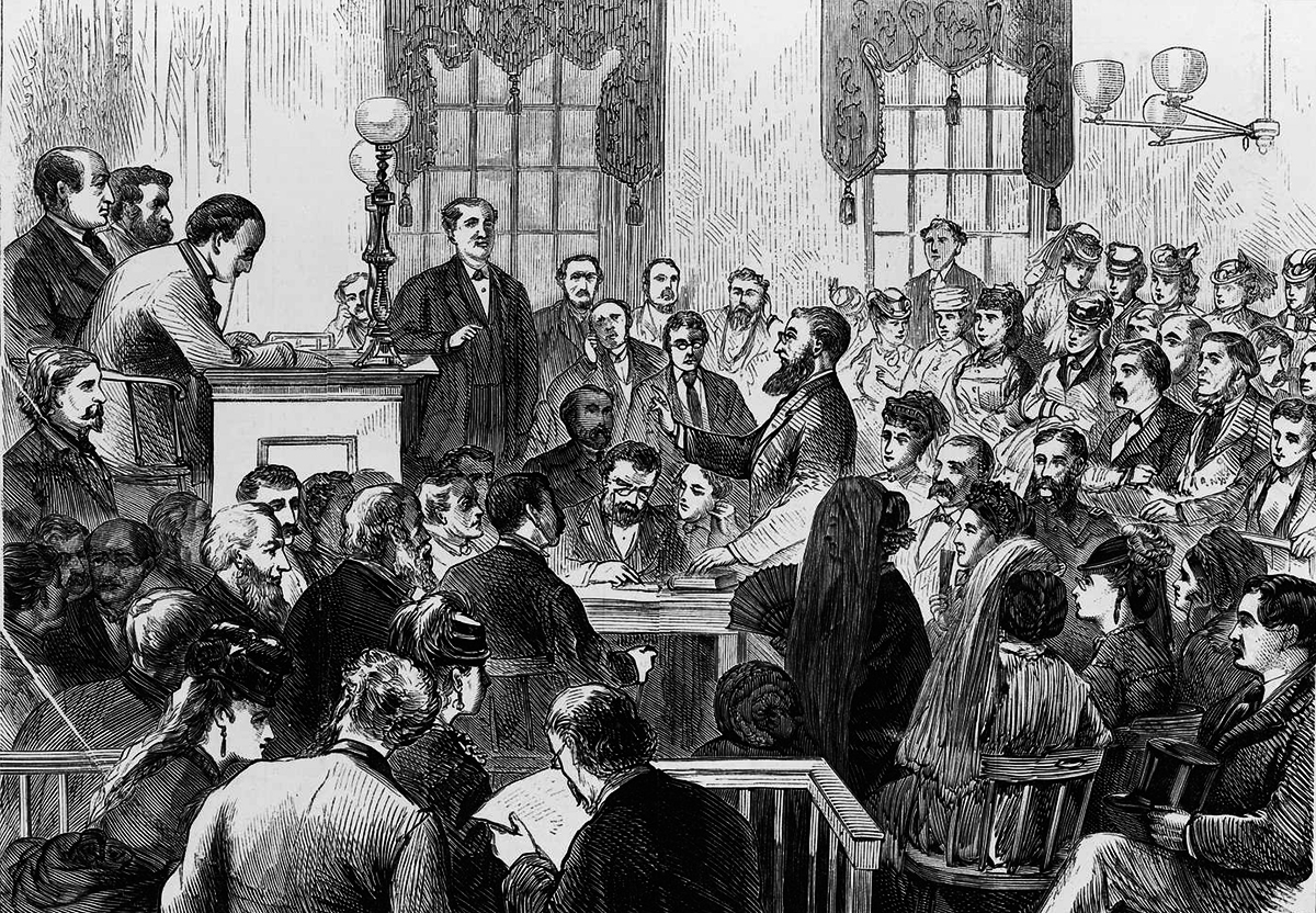 Court Room Sketch Early 1900s