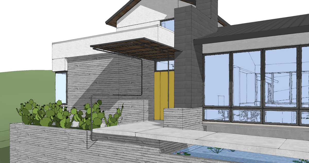 San Antonio Concrete approach - The Front Door Experience
