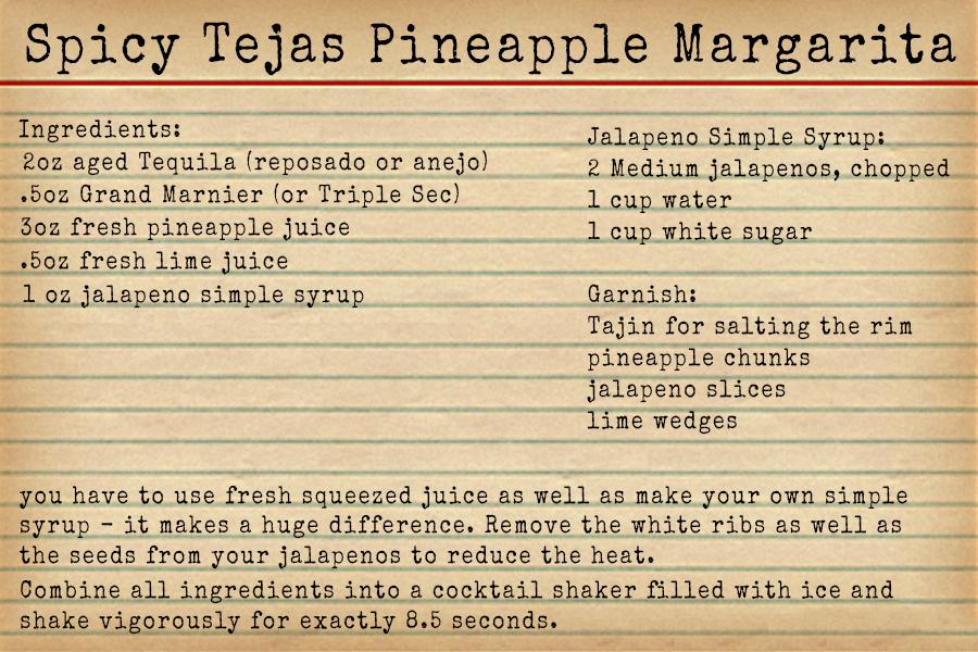 Borson Family Spicy Tejas Pineapple Margarita Recipe - Happy Hour at the Borson House