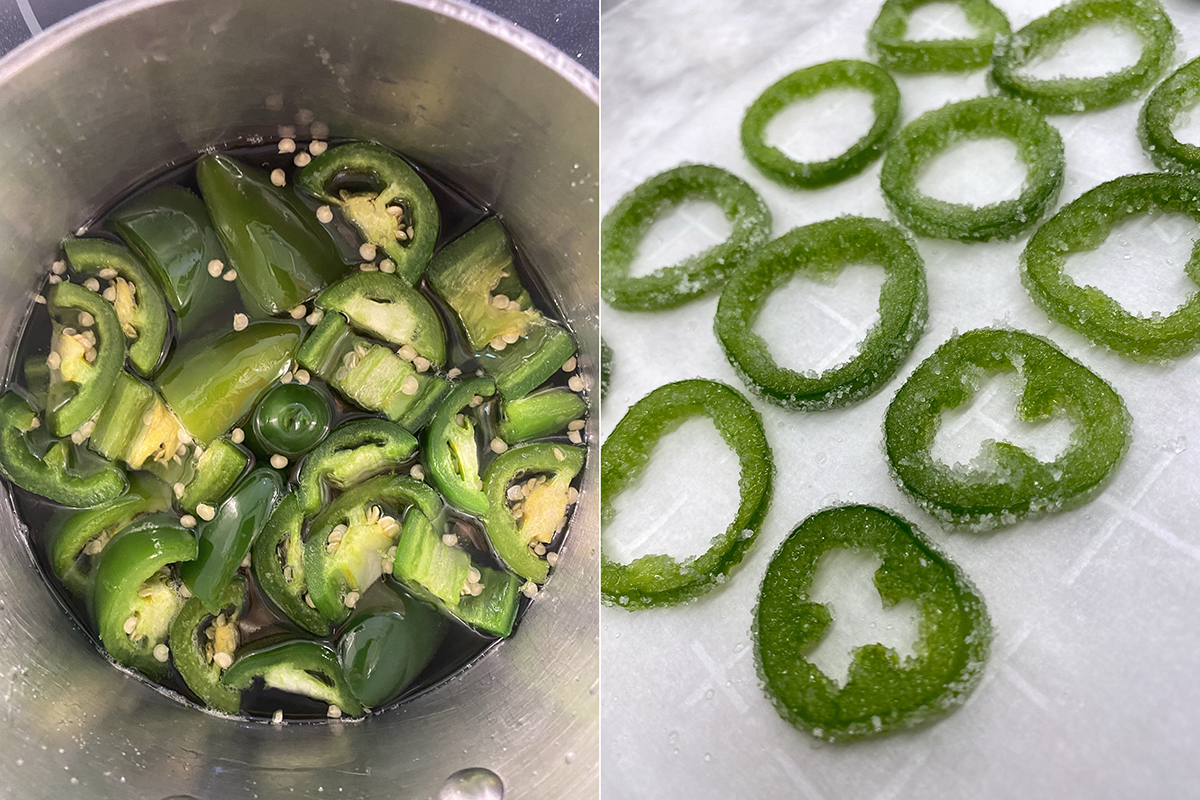 Jalapeno simple syrup - Happy Hour at the Borson House