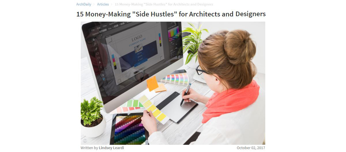 ArchDaily Side Hustle article