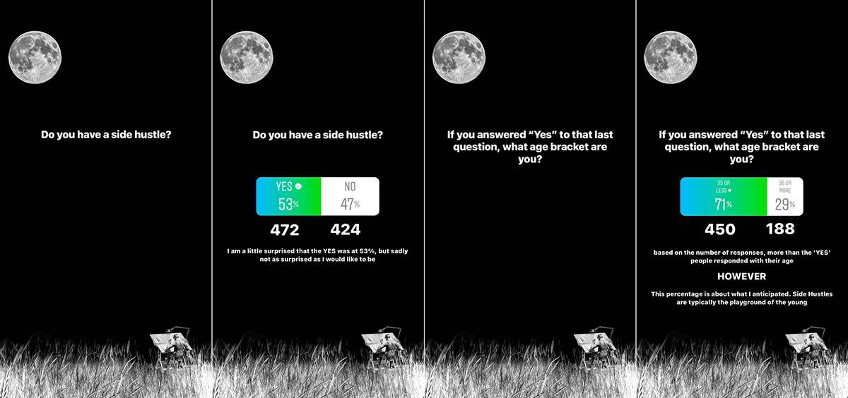 Architectural Side Hustle poll from Instagram