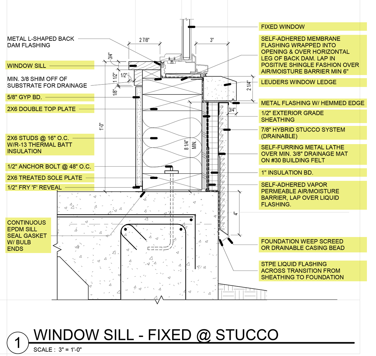 Window Detail and Project Specifications 05 - Residential Architecture 101 - Specifications