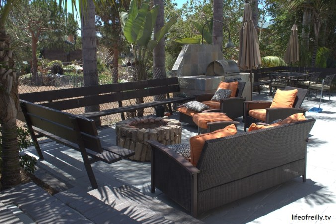 The Fire Pit area of our House Swap in Encinitas