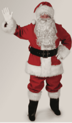 red velvet santa suit rental size extra large
