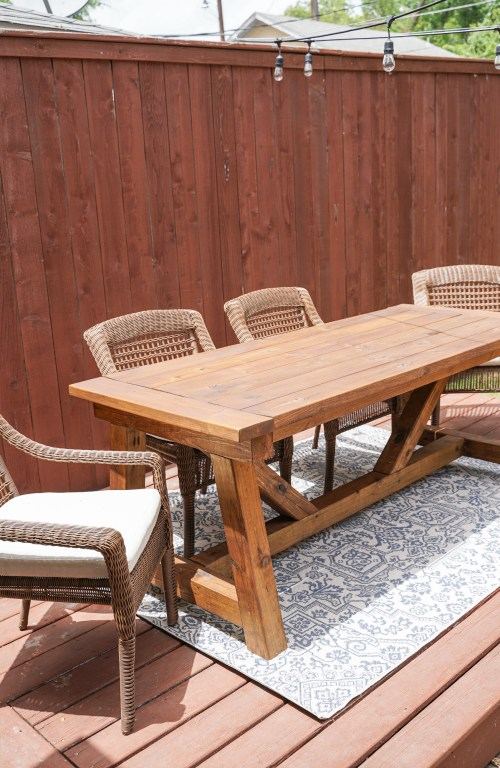 Building Our Diy Patio Table Life On, Build Patio Furniture Plans