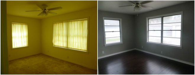 Back Bedroom Before and After