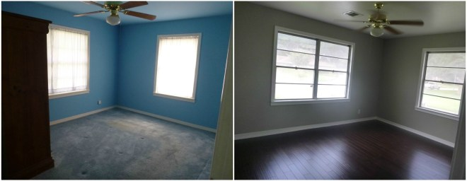Front Bedroom Before and After